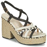 Chaussures Femme Sandales et Nu-pieds Menbur BALMUCCIA Noir / Blanc