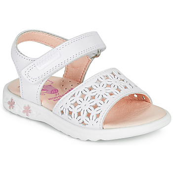 Chaussures Fille Sandales et Nu-pieds Pablosky DROSSI Blanc / Rose