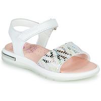 Chaussures Fille Sandales et Nu-pieds Pablosky CAMMI Blanc / Multico