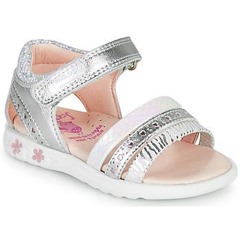 Chaussures Fille Sandales et Nu-pieds Pablosky ELLO Argenté