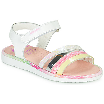 Chaussures Fille Sandales et Nu-pieds Pablosky MOUNNA Blanc / Rose