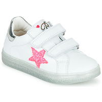 Chaussures Fille Baskets basses Pablosky SINNO Blanc / Rose