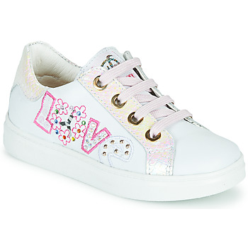 Chaussures Fille Baskets basses Pablosky AMME Blanc / Rose