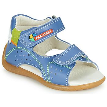 Chaussures Garçon Sandales et Nu-pieds Pablosky KINNI Bleu