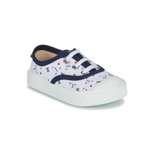 Chaussures Enfant Baskets basses Citrouille et Compagnie MY LOVELY TRAINERS Blanc imprimé