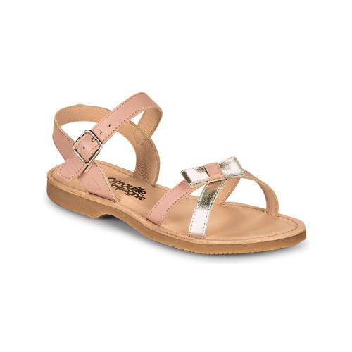 Chaussures Fille Sandales et Nu-pieds Citrouille et Compagnie JISCOTTE Rose/argent