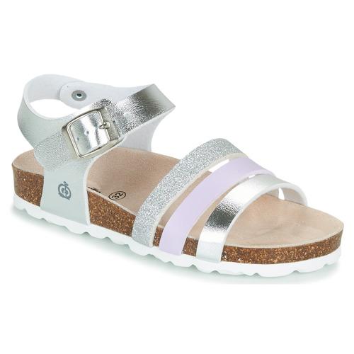 Chaussures Fille Sandales et Nu-pieds Citrouille et Compagnie OMAYA Argent