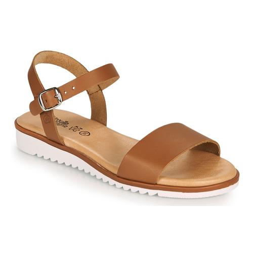 Chaussures Fille Sandales et Nu-pieds Citrouille et Compagnie GLAPOTTI Camel