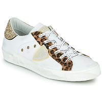 Chaussures Femme Baskets basses Philippe Model PARIS Blanc / Leopard