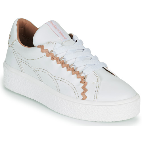 Chaussures Femme Baskets basses See by Chloé SEVY Blanc / Rose Nude
