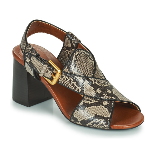 Chaussures Femme Sandales et Nu-pieds See by Chloé HELLA Beige / Gris