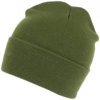 Accessoires textile Bonnets Nyls Création Bonnet Vert Chasse et Mode en Laine avec Revers Eric Vert