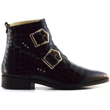 Chaussures Femme Boots Caractères info Noir
