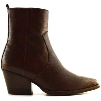 Chaussures Femme Bottines Wonders H-4020 Marron