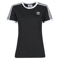 Vêtements Femme T-shirts manches courtes adidas Originals 3 STRIPES TEE Noir