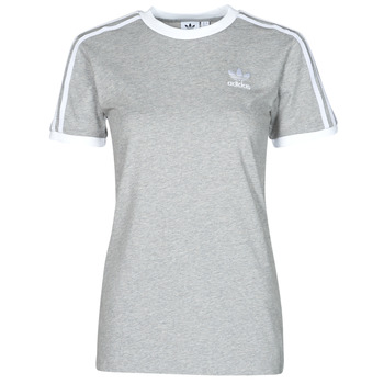 Vêtements Femme T-shirts manches courtes adidas Originals 3 STRIPES TEE Gris