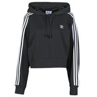 Vêtements Femme Sweats adidas Originals SHORT HOODIE Noir
