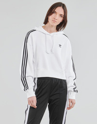 Vêtements Femme Sweats adidas Originals SHORT HOODIE Blanc