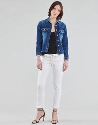 Vêtements Femme Pantalons 5 poches Le Temps des Cerises EZRA Blanc