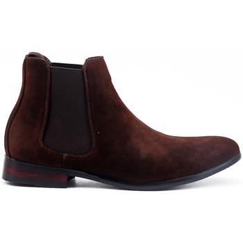 Chaussures Bottes ville Uomo Design Bottine Chelsea Carl café