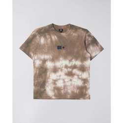 Vêtements Homme T-shirts manches courtes Edwin T-shirt  Synergy marron/blanc