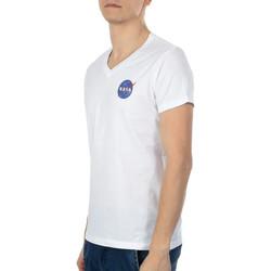 Vêtements Homme T-shirts manches courtes Nasa -BALL/V Blanc
