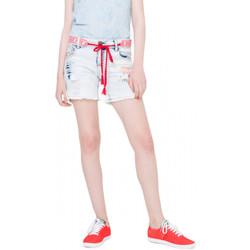 Vêtements Femme Shorts / Bermudas Desigual Short Capricorni Denim Bleach 74D2JB5 (rft) Bleu