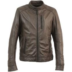 Vêtements Homme Blousons Oakwood Blouson en cuir Agent  ref 50770 Marron Marron