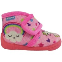 Chaussures Fille Chaussons Colores 2586  ZAPATILLA CASA Rosa Rose