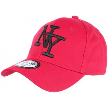 Accessoires textile Casquettes Hip Hop Honour Casquette NY Rouge et Noire Fashion Visiere Baseball Stazky Rouge