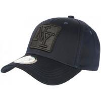 Accessoires textile Casquettes Hip Hop Honour Casquette NY Bleue Marine Ecusson Fashion Baseball Elkry Bleu