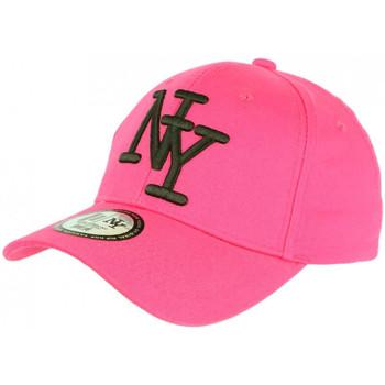 Accessoires textile Casquettes Hip Hop Honour Casquette NY Rose et Noire Tendance Visiere Baseball Stazky Rose