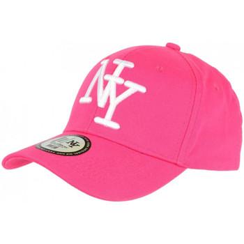 Accessoires textile Casquettes Hip Hop Honour Casquette NY Rose et Blanche Fashion Visiere Baseball Stazky Rose