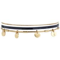 Montres & Bijoux Femme Bracelets Flowersforzoé Bracelet Rosalie Vernis marine FD T1 Jaune