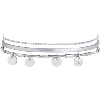 Montres & Bijoux Femme Bracelets Flowersforzoé Bracelet Rosalie Pois gris dore FD T1 Jaune
