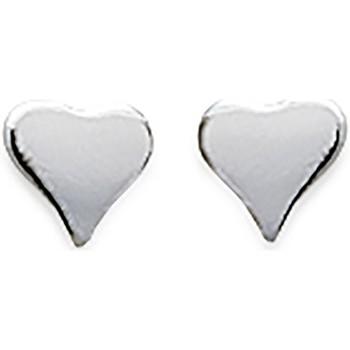 Montres & Bijoux Femme Boucles d'oreilles Brillaxis Boucles d'oreilles  coeur Blanc
