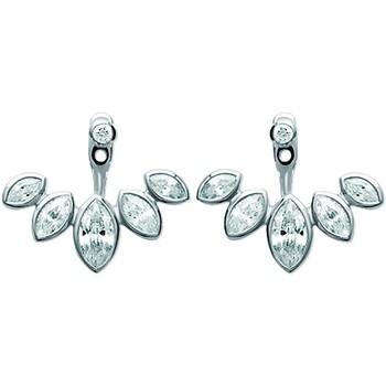Montres & Bijoux Femme Boucles d'oreilles Brillaxis Boucles d'oreilles  empierrées Blanc