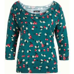 Vêtements Femme T-shirts manches longues King Louie Top Col Bateau Cherry Pie Lapis Blue-XS (rft) 25