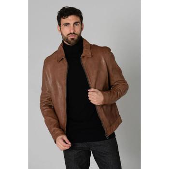 Vêtements Homme Vestes en cuir / synthétiques Daytona ZACH COW VEG THUNDER BISON ZZ Marron