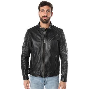 Vêtements Homme Vestes en cuir / synthétiques Daytona NATHAN SHEEP RACER BLACK ZZ Noir