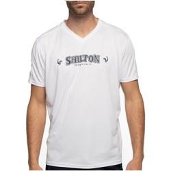 Vêtements Homme T-shirts manches courtes Shilton T-shirt sport col v Blanc