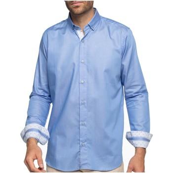 Vêtements Homme Chemises manches longues Shilton Chemise manches longues basique CITY Bleu ciel