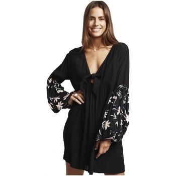 Vêtements Fille Robes courtes Billabong Robe de plage imprimée BLISSFULL Noir