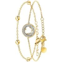 Montres & Bijoux Femme Bracelets Sc Bohème B2125-BLANC+B2371-DORE Doré
