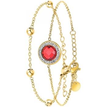 Montres & Bijoux Femme Bracelets Sc Crystal B2125-ROUGE+B2371-DORE Doré