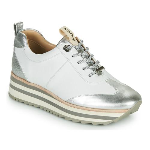 Chaussures Femme Baskets basses JB Martin 4CANDIO Argenté / Blanc