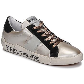 Chaussures Femme Baskets basses Meline NK1382 Bronze / Noir