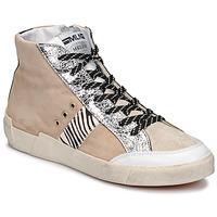 Chaussures Femme Baskets basses Meline NK1384 Beige / Zebre