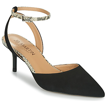 Chaussures Femme Sandales et Nu-pieds JB Martin TWISTO Noir / Blanc