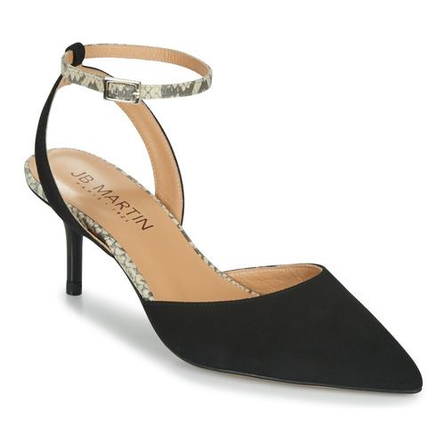 Chaussures Femme Escarpins JB Martin TWISTO Noir / Blanc